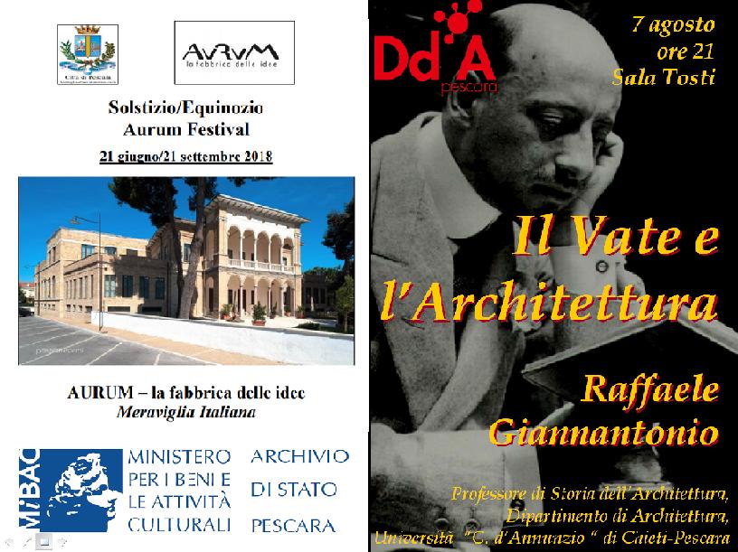 1 - Il Vate e l'Architettura - 7 ago